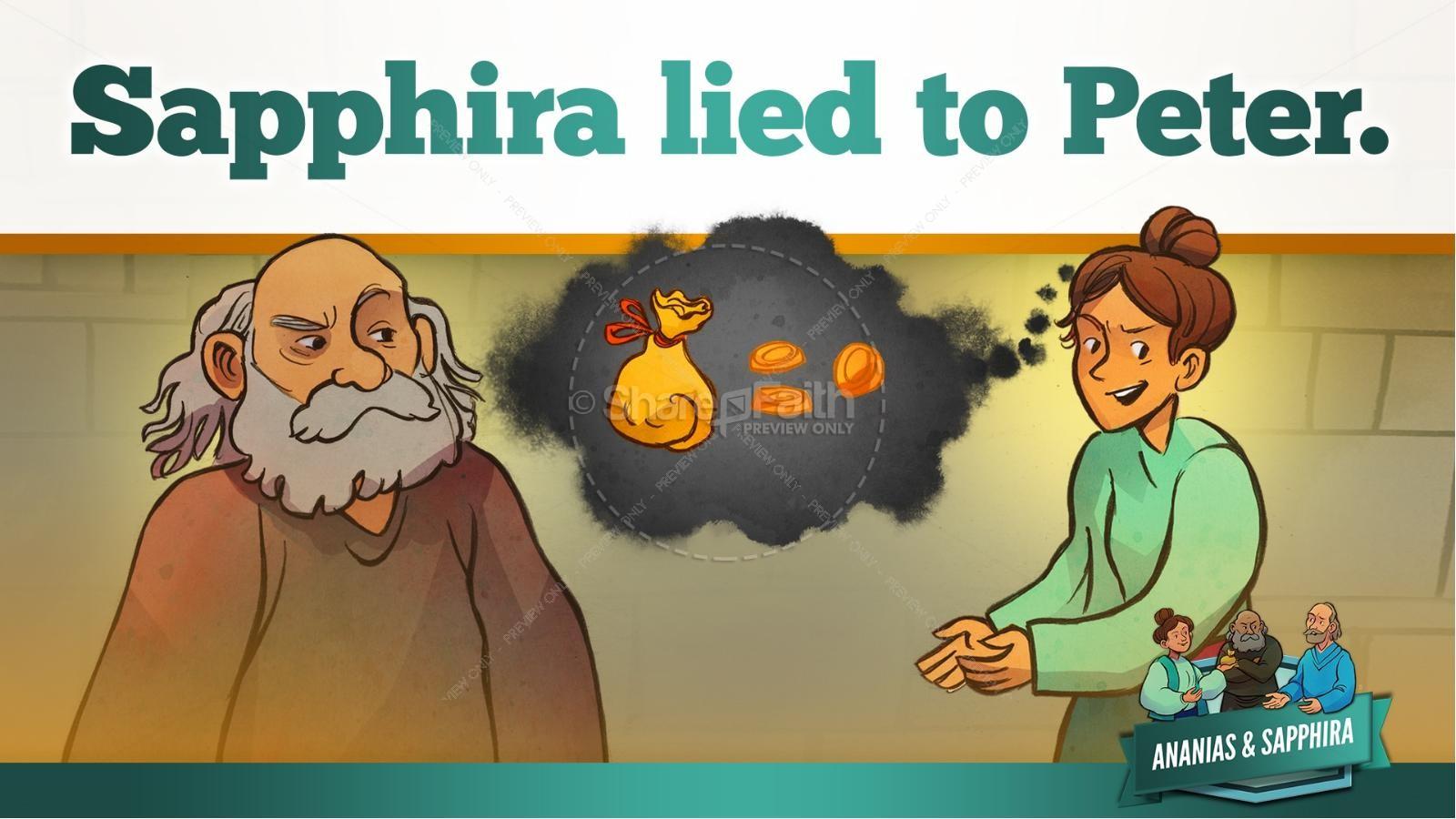 Acts 5 Ananias and Sapphira Kids Bible Stories | slide 34
