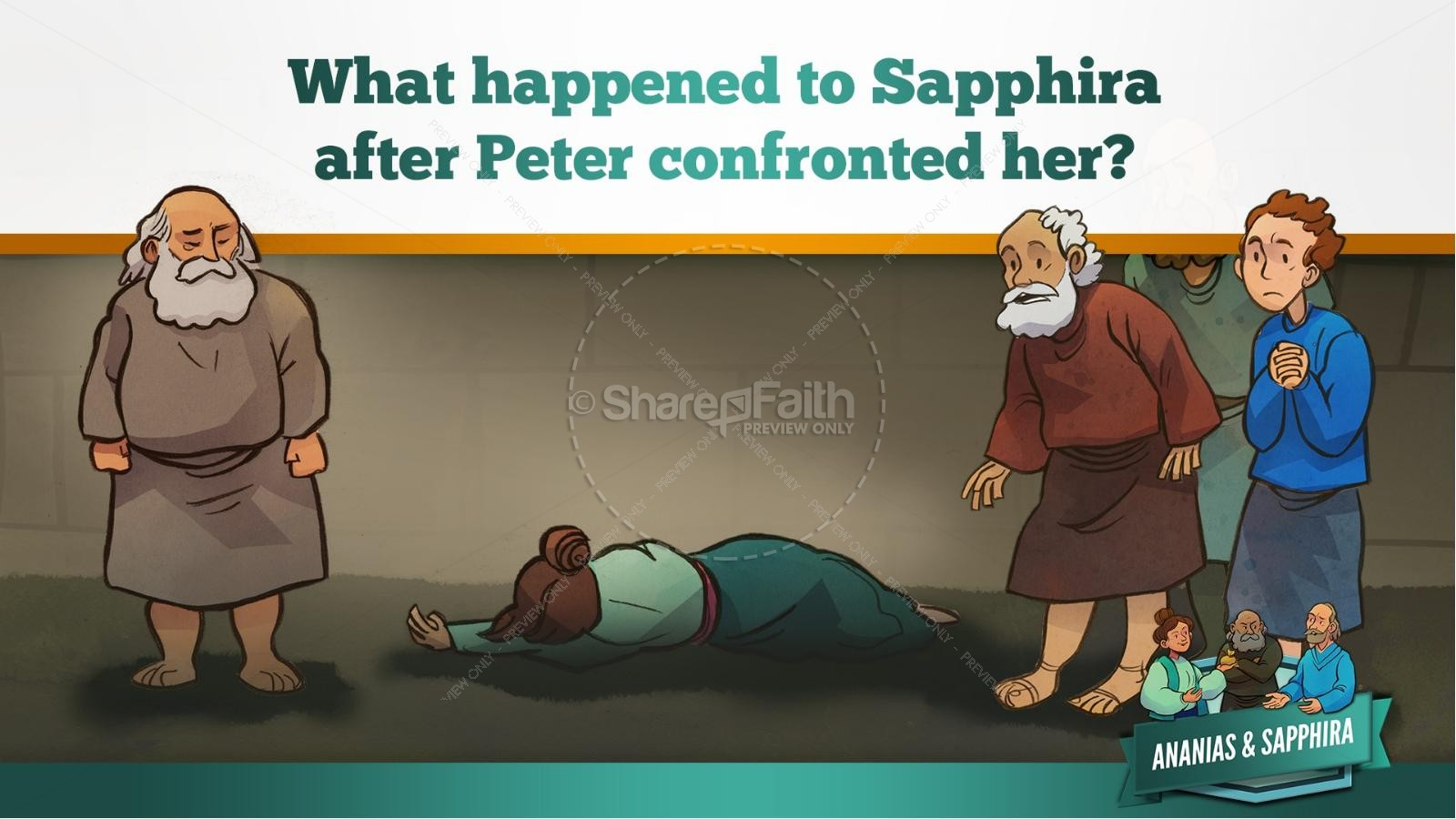 Acts 5 Ananias and Sapphira Kids Bible Stories | slide 41