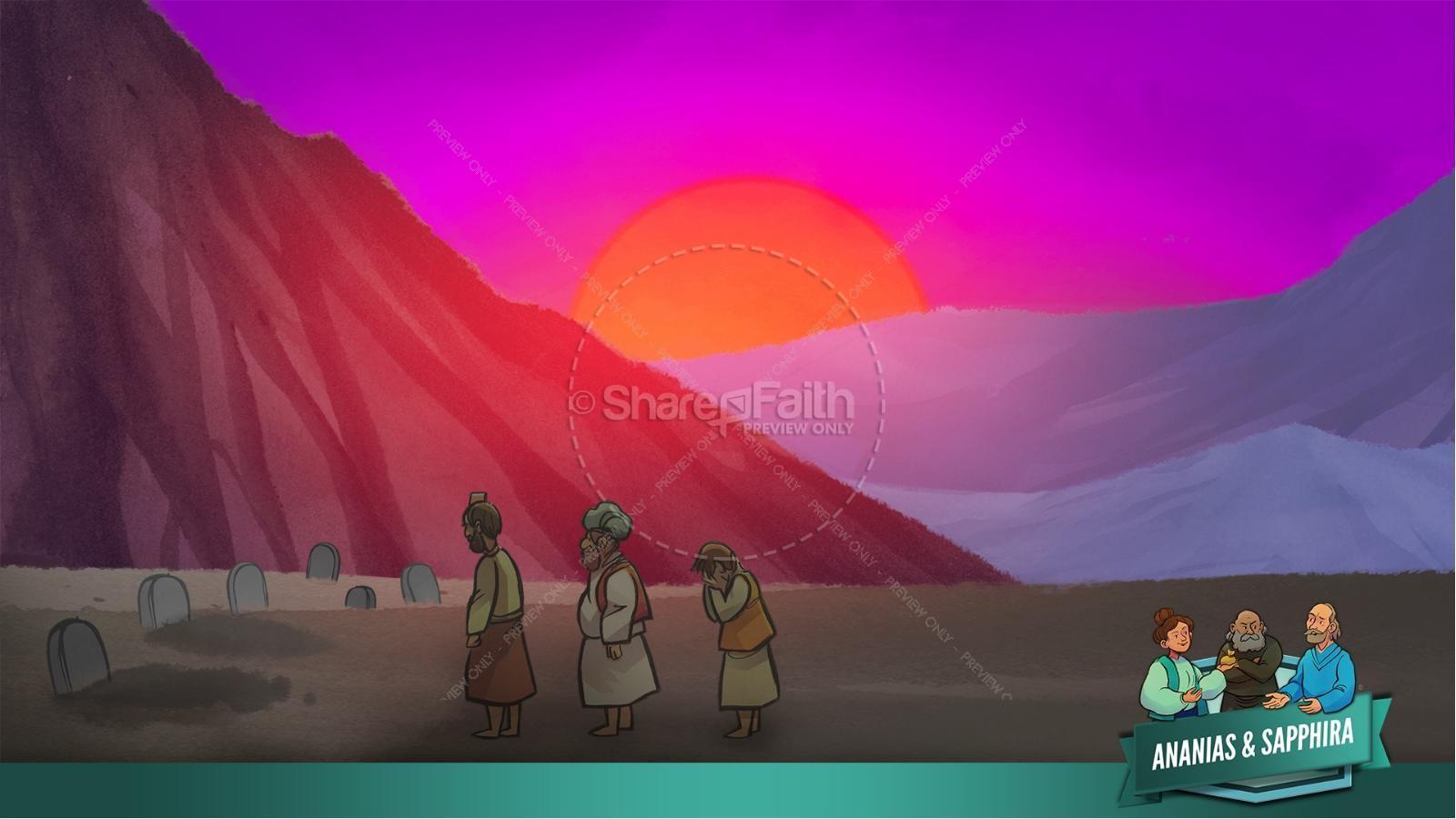 Acts 5 Ananias and Sapphira Kids Bible Stories | slide 44