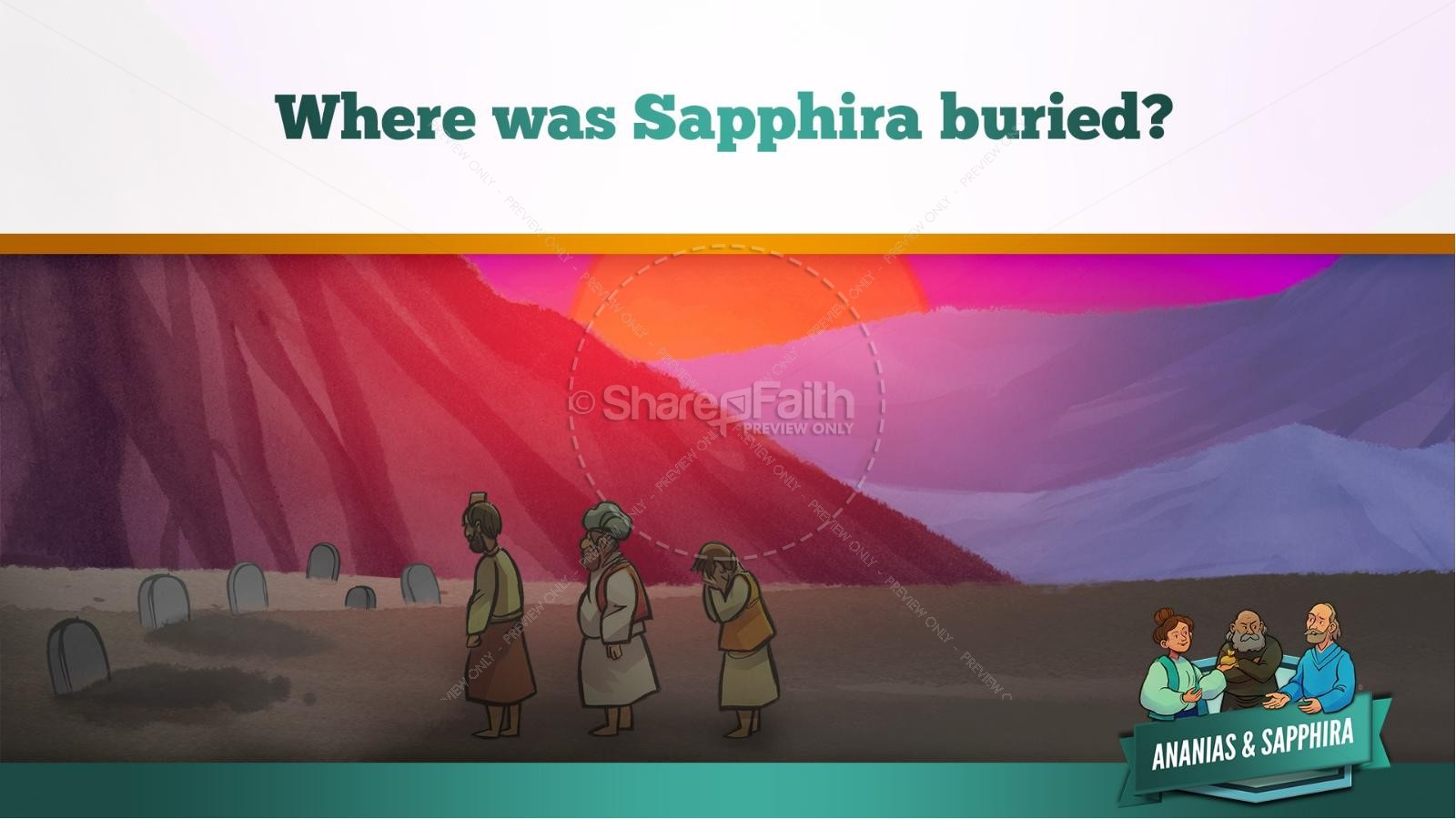 Acts 5 Ananias and Sapphira Kids Bible Stories | slide 45