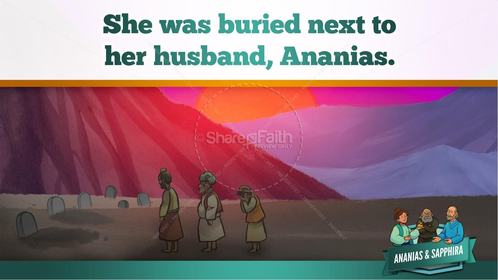 Acts 5 Ananias and Sapphira Kids Bible Stories | slide 46