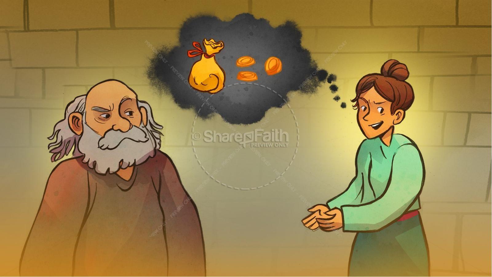 Acts 5 Ananias and Sapphira Kids Bible Stories | slide 7