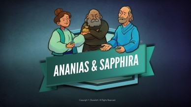 Acts 5 Ananias and Sapphira Bible Video For Kids