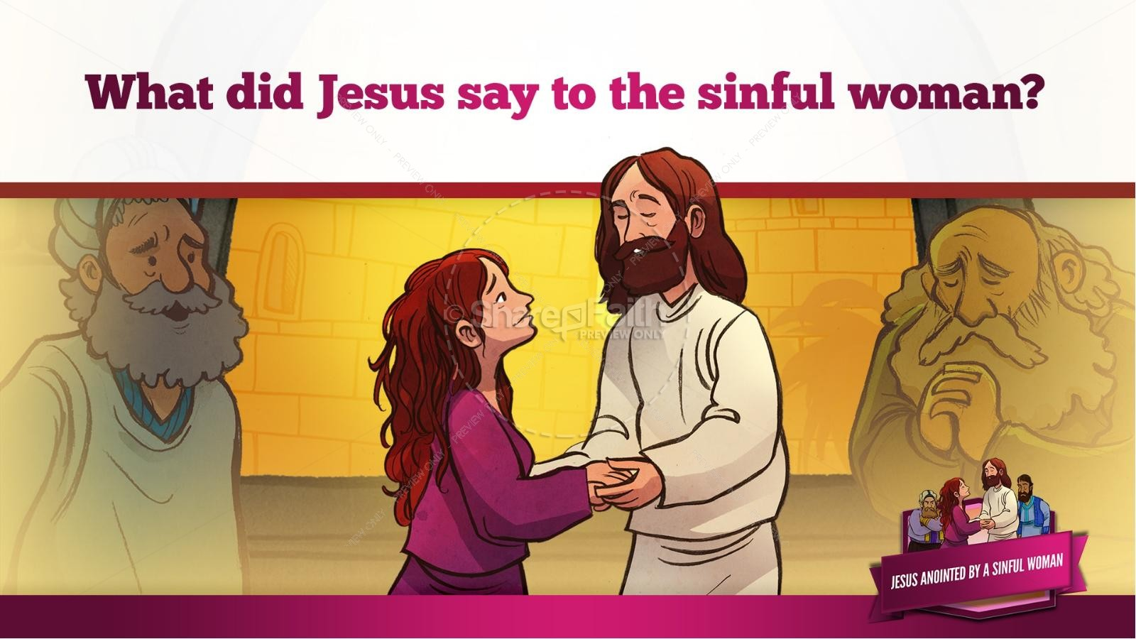 Luke 7 Woman Washes Jesus Feet Kids Bible Story