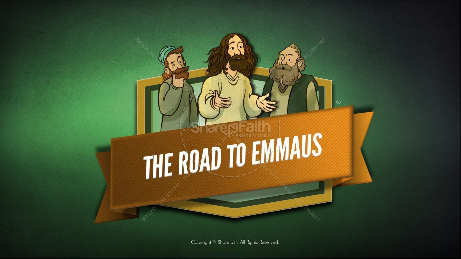 Luke 24 Road to Emmaus Bible Video For Kids | Bible Videos For Kids