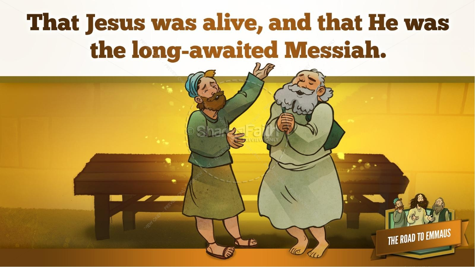 Luke 24 Road to Emmaus Kids Bible Stories | slide 31