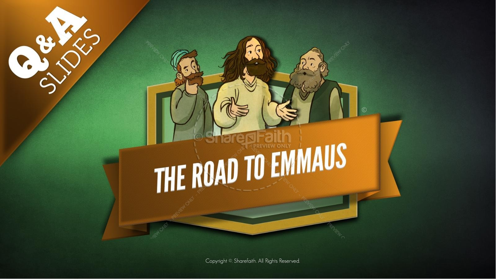 Luke 24 Road to Emmaus Kids Bible Stories | slide 8