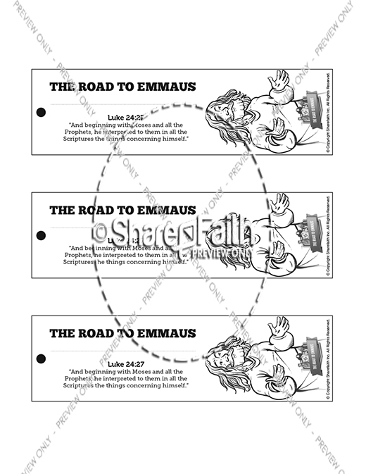 Luke 24 Road to Emmaus Bible Bookmarks