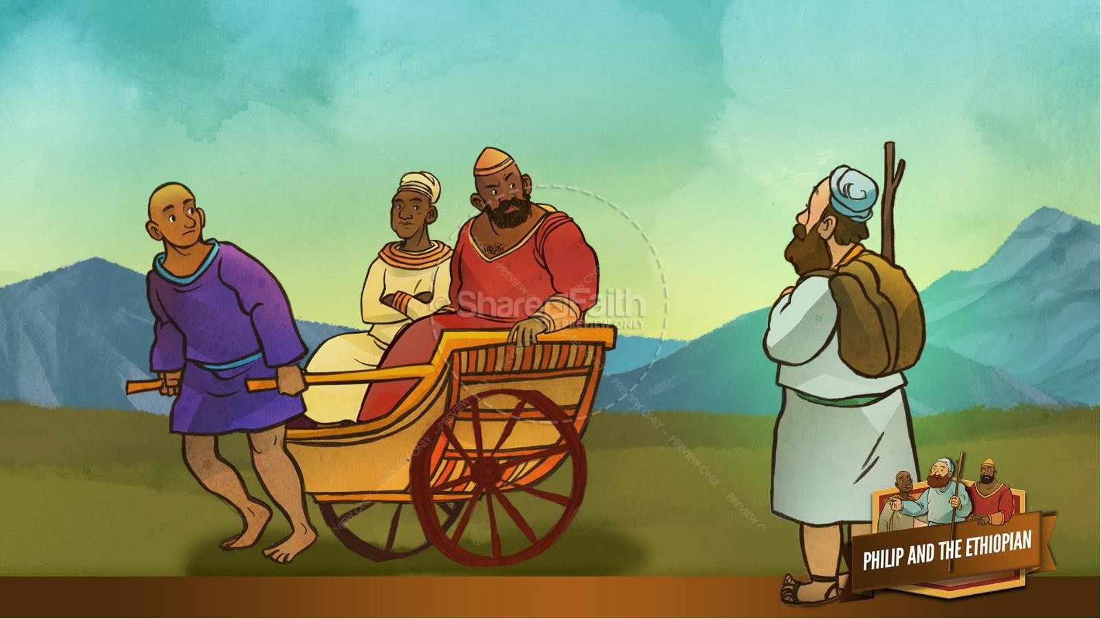 Acts 8 Philip and the Ethiopian Kids Bible Stories