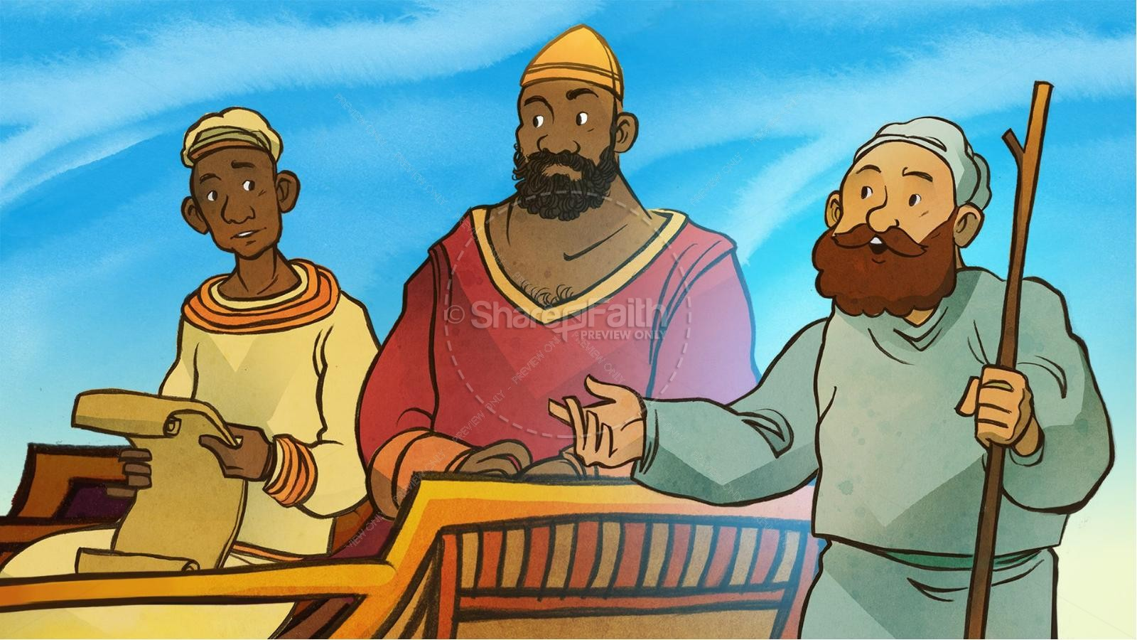 Acts 8 Philip and the Ethiopian Kids Bible Stories | Kids Bible Stories
