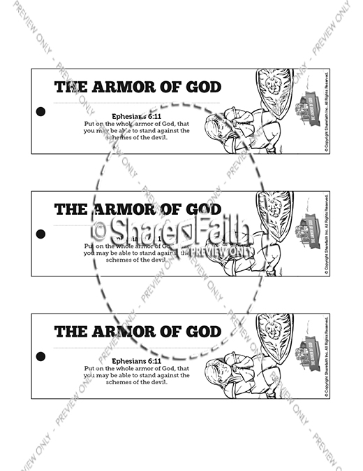 Ephesians 6 The Armor of God Bible Bookmarks