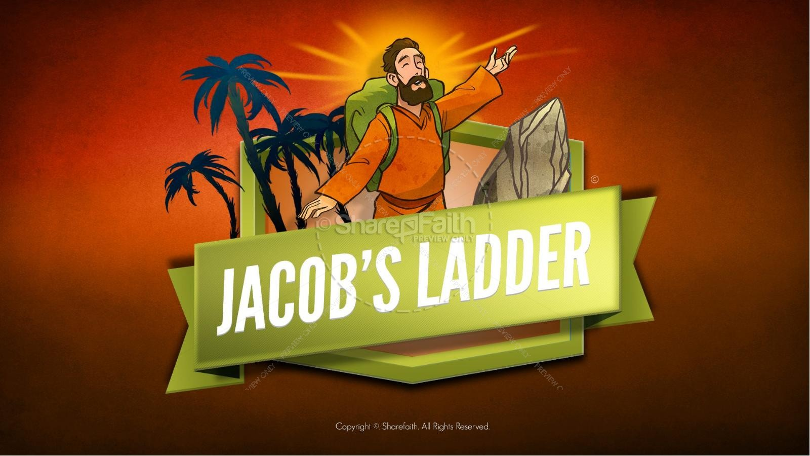 Genesis 28 Jacobs Ladder Kids Bible Story | slide 1