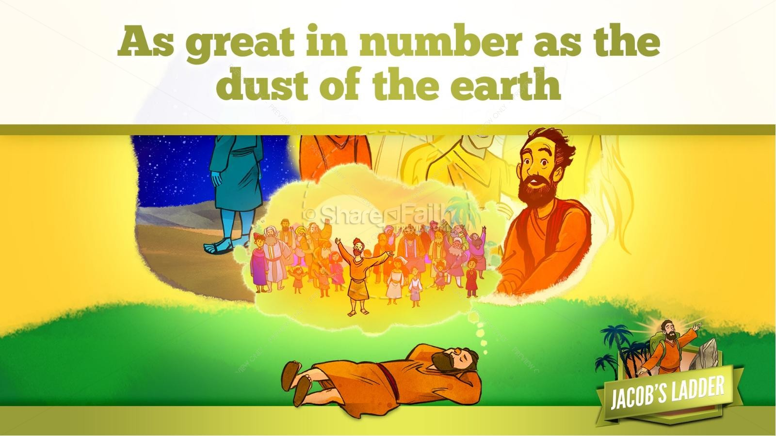 Genesis 28 Jacobs Ladder Kids Bible Story | slide 19