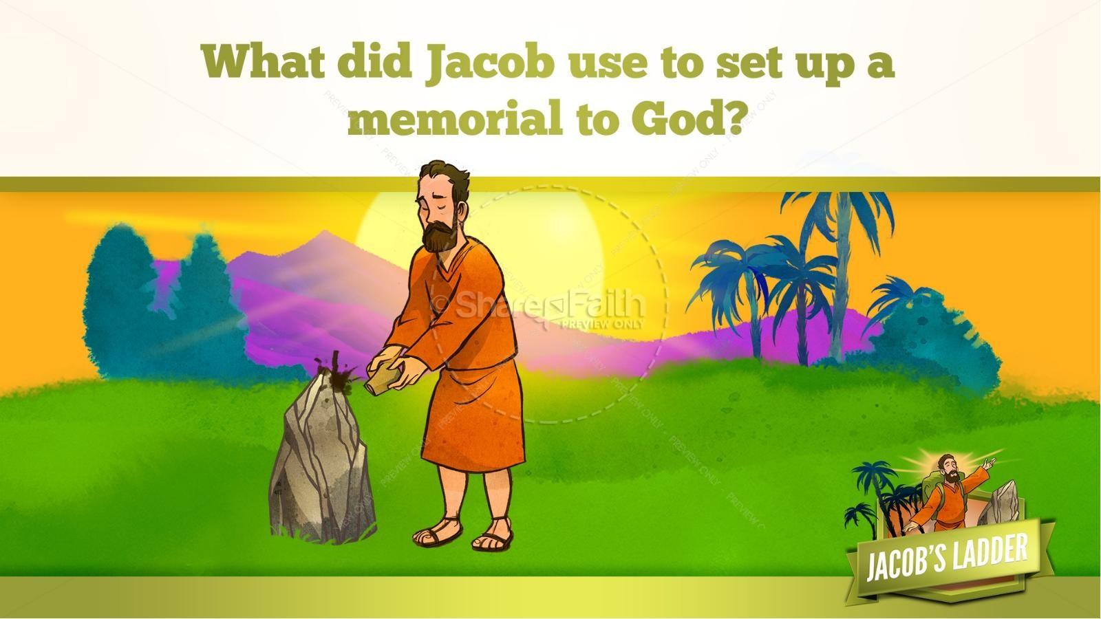 Genesis 28 Jacobs Ladder Kids Bible Story   slide 26