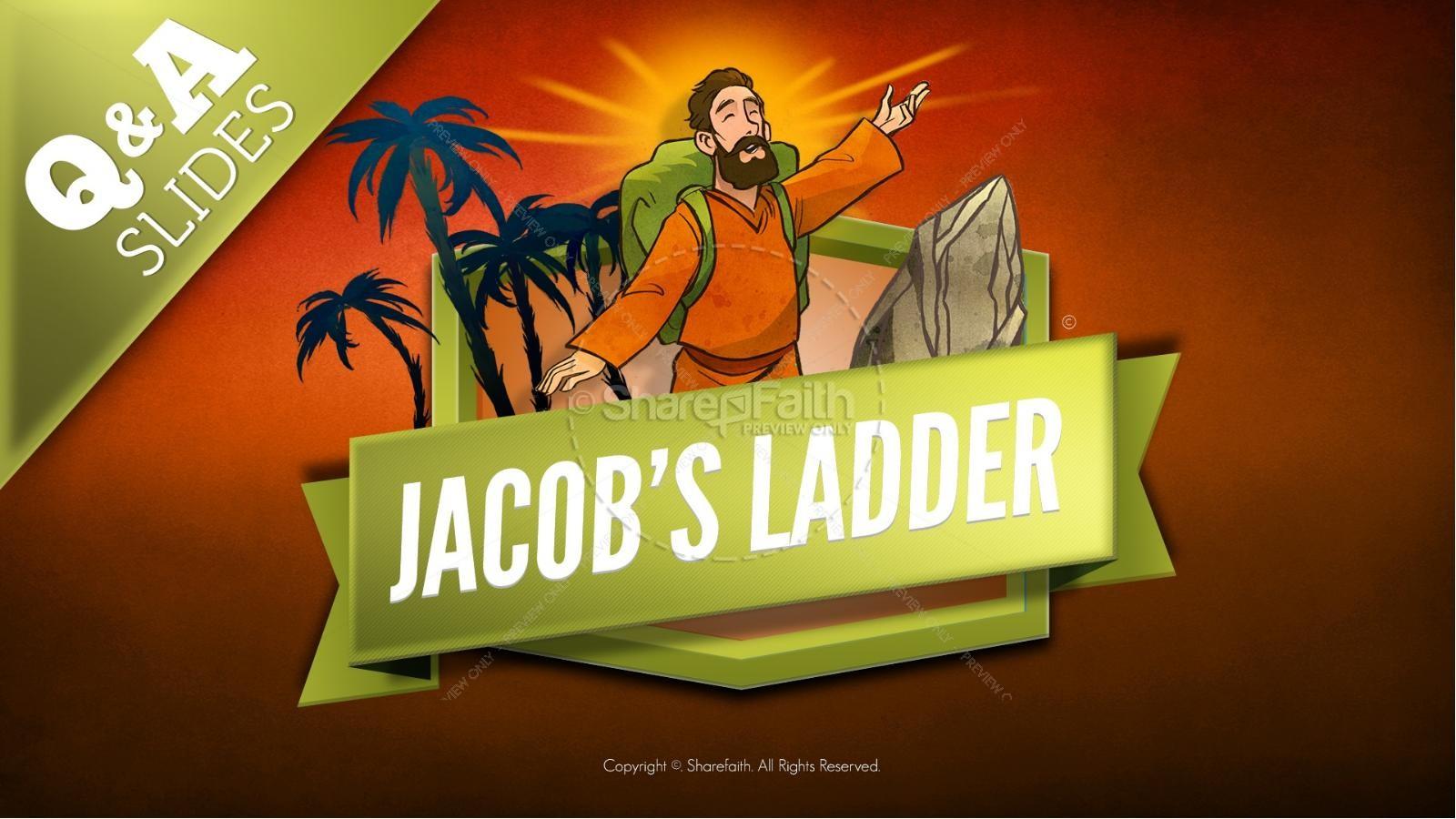 Genesis 28 Jacobs Ladder Kids Bible Story | slide 8