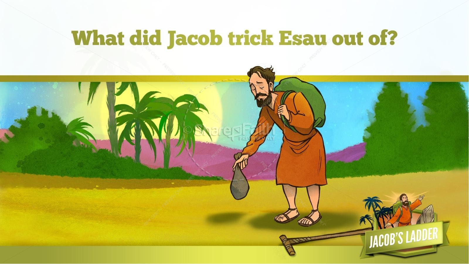 Genesis 28 Jacobs Ladder Kids Bible Story | Kids Bible Stories