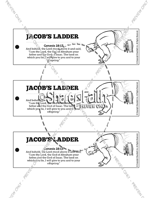 genesis 28 jacobs ladder bible bookmarks