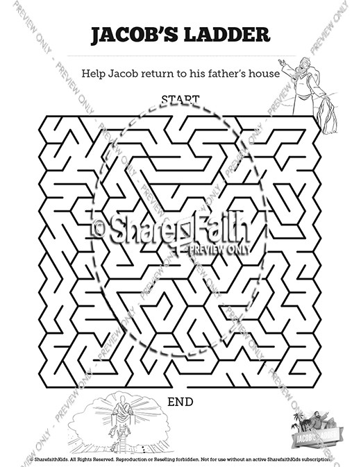 Genesis 28 Jacobs Ladder Bible Mazes