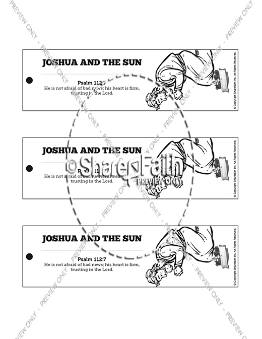 Joshua 10 Sun Stand Still Bible Bookmarks