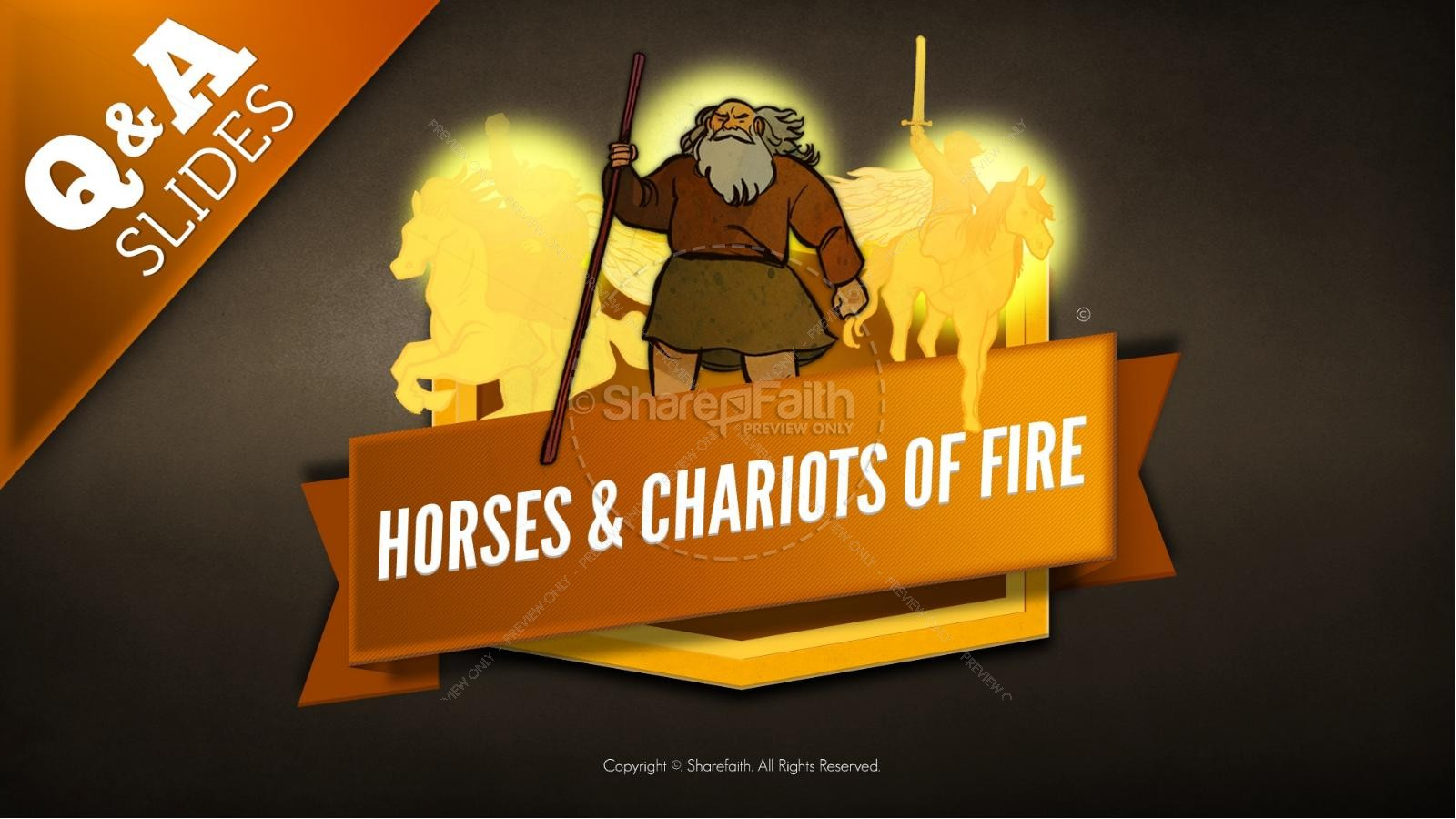2 Kings 6 Horses and Chariots of Fire Kids Bible Story