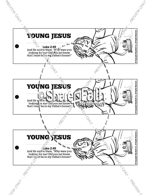 Jesus As A Child Bible Bookmarks