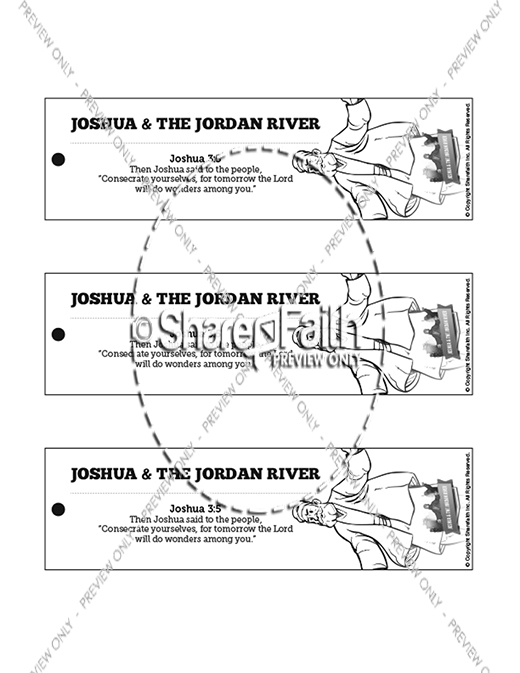 Joshua 3 Crossing the Jordan River Bible Bookmarks
