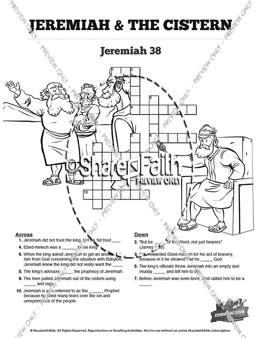 The Prophet Jeremiah Sunday School Crossword Puzzles