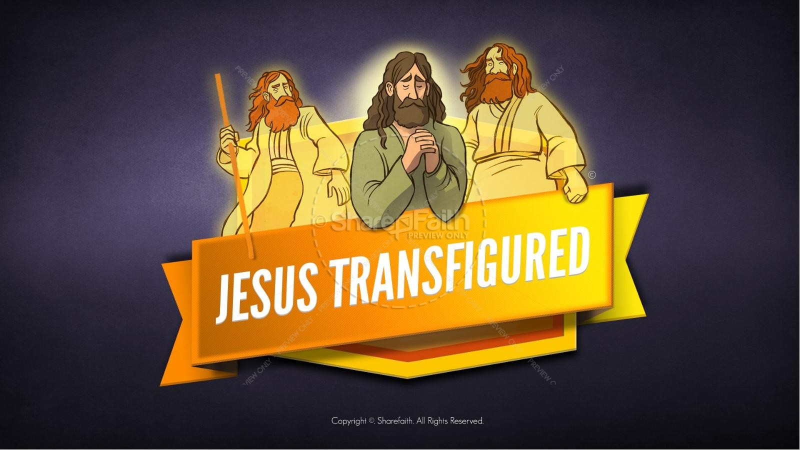 Matthew 17 The Transfiguration Kids Bible Story