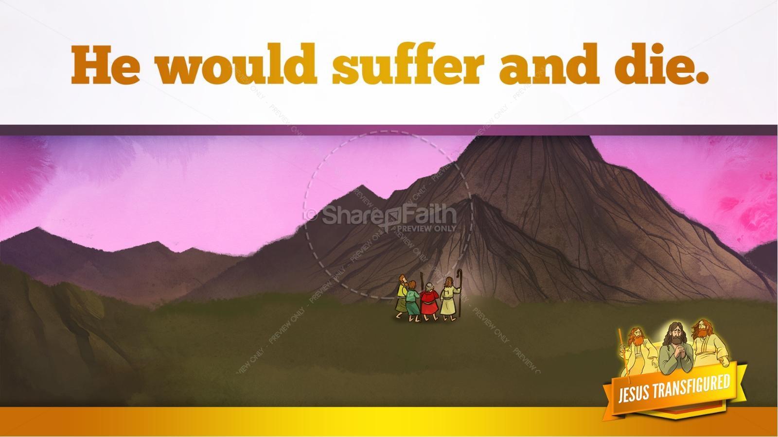 Matthew 17 The Transfiguration Kids Bible Story | slide 11
