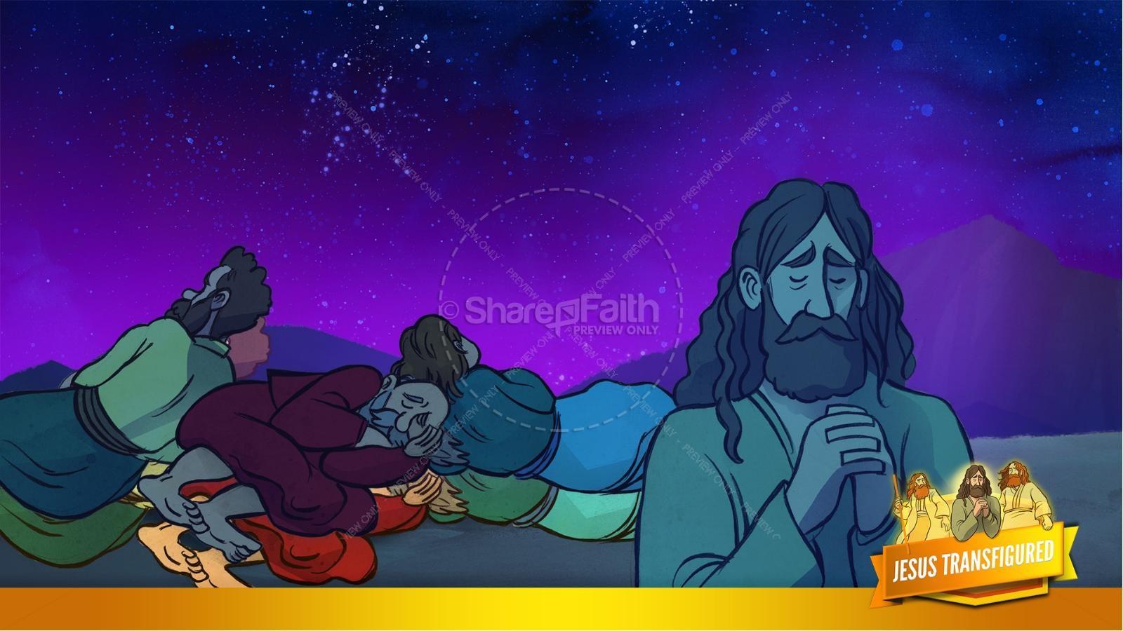 Matthew 17 The Transfiguration Kids Bible Story | slide 13
