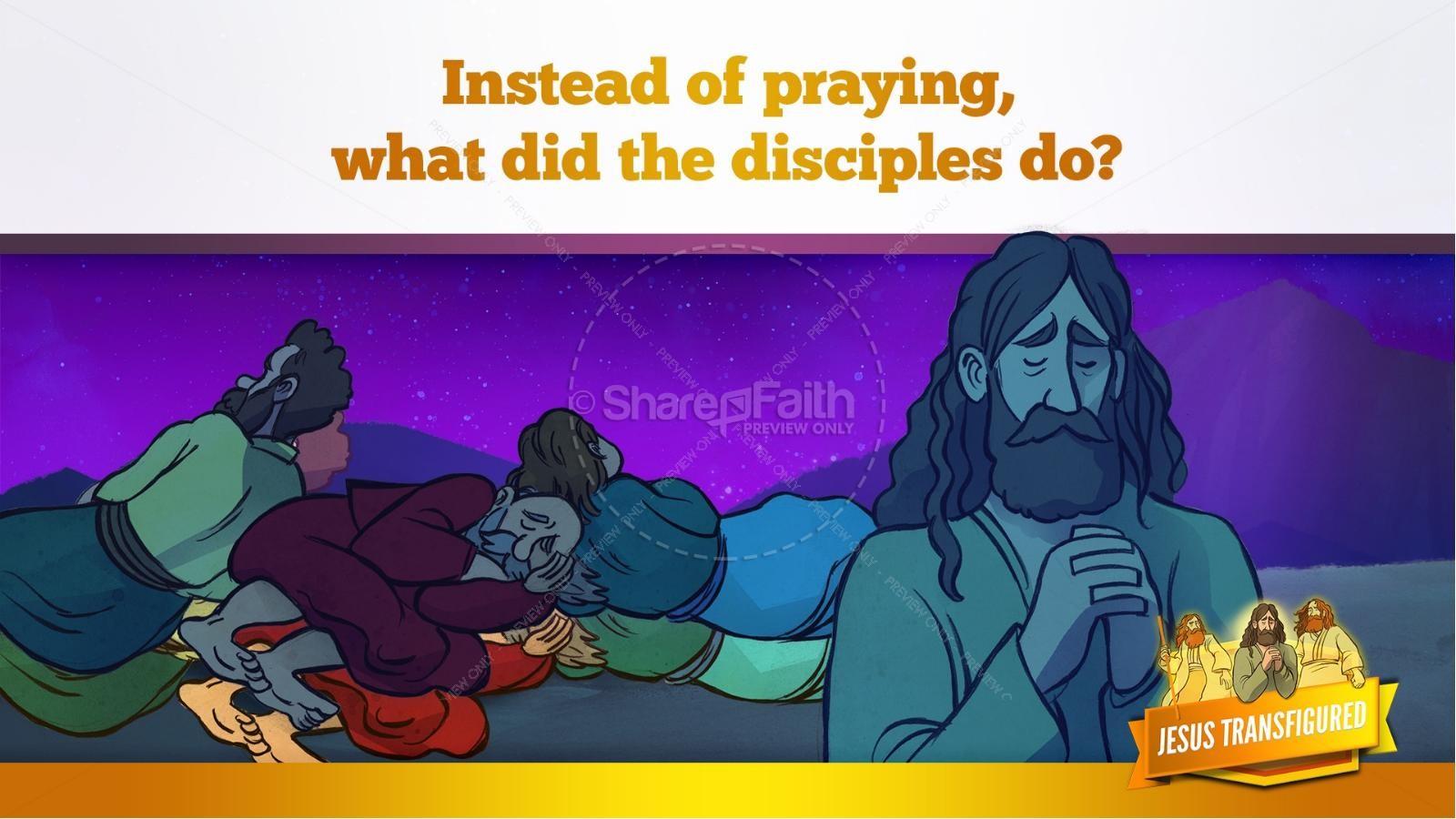 Matthew 17 The Transfiguration Kids Bible Story | slide 14