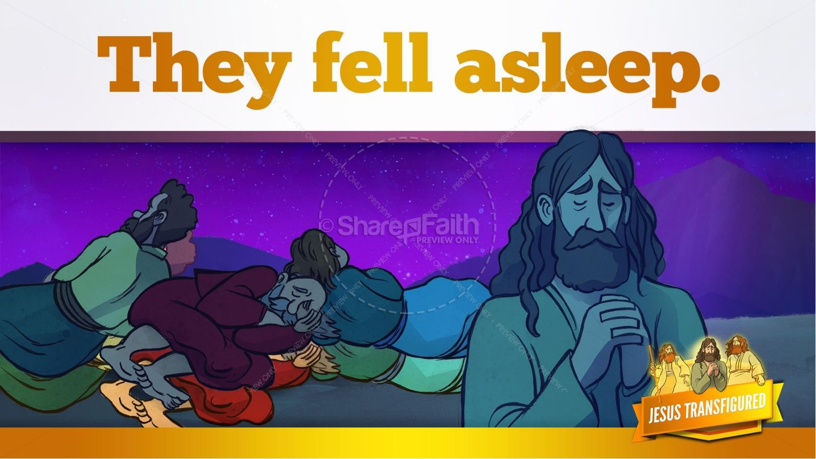 Matthew 17 The Transfiguration Kids Bible Story | slide 15
