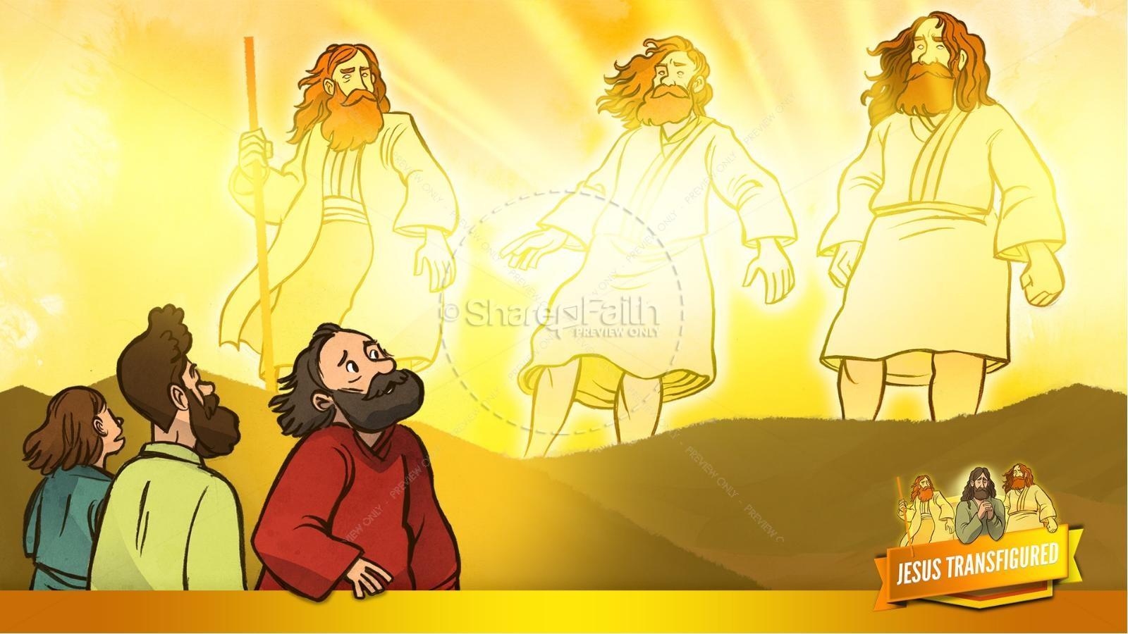 Matthew 17 The Transfiguration Kids Bible Story | slide 17
