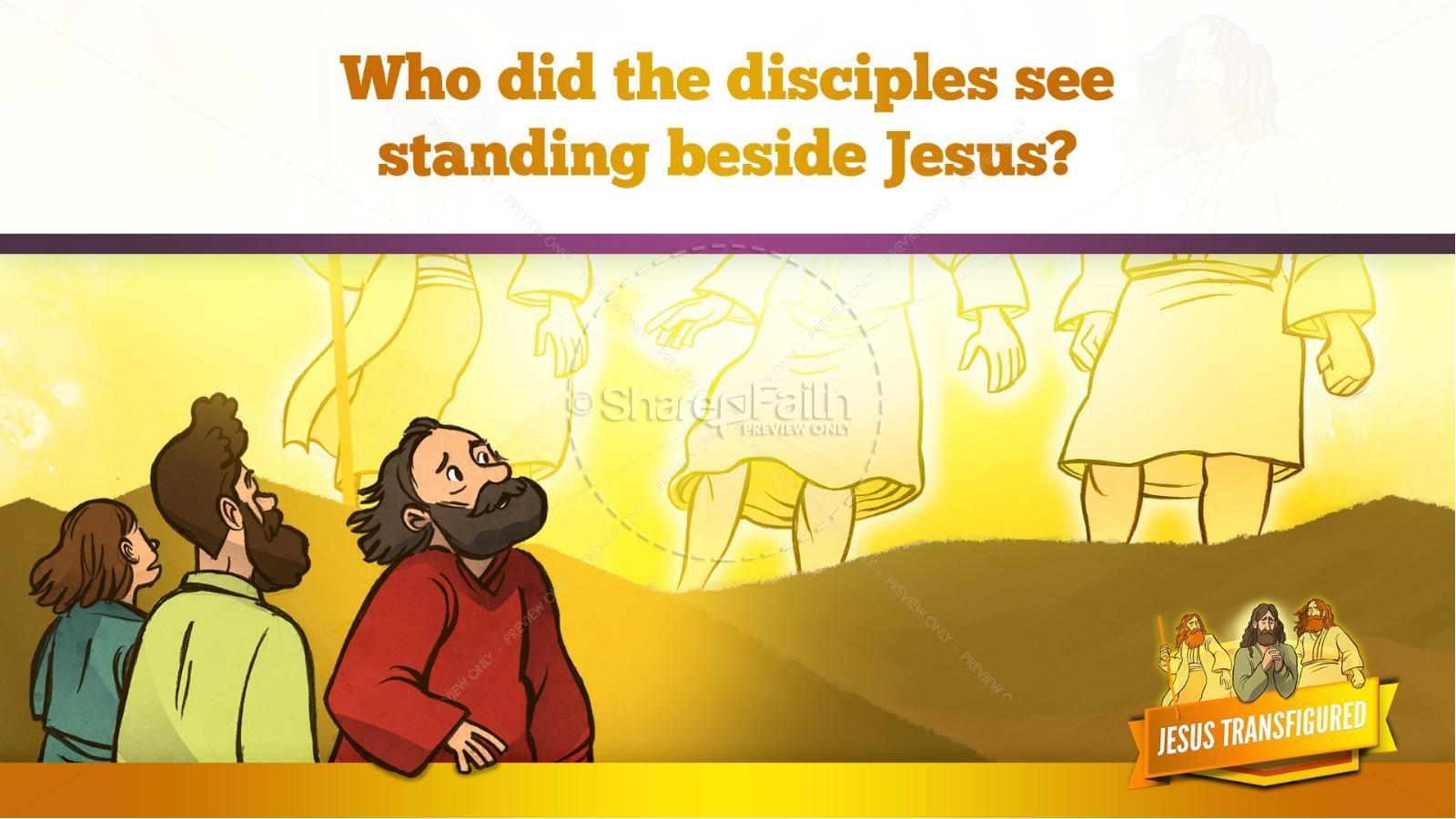 Matthew 17 The Transfiguration Kids Bible Story | slide 18