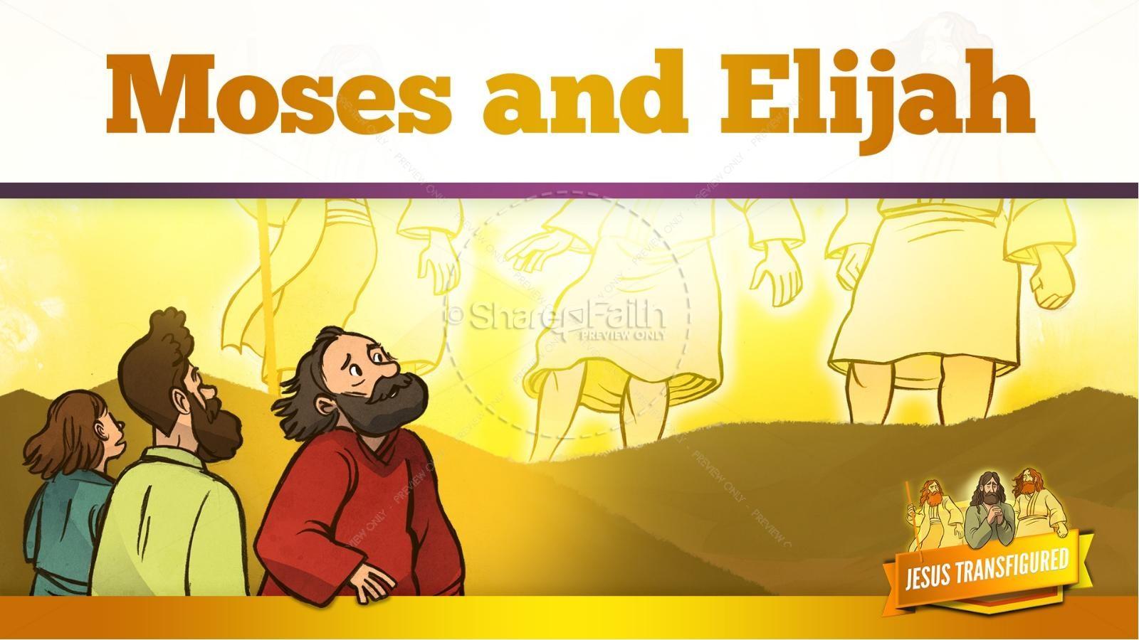 Matthew 17 The Transfiguration Kids Bible Story | slide 19