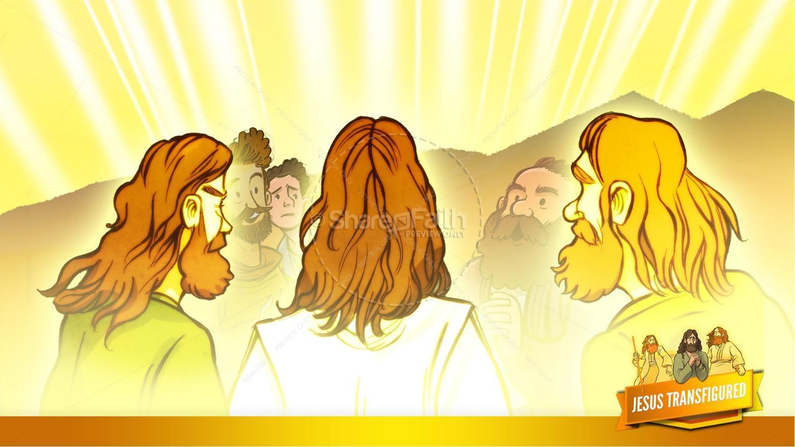 Matthew 17 The Transfiguration Kids Bible Story | slide 21