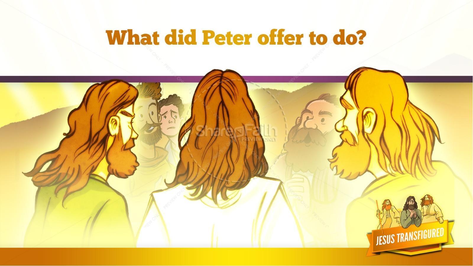 ... Matthew 17 The Transfiguration Kids Bible Story ...