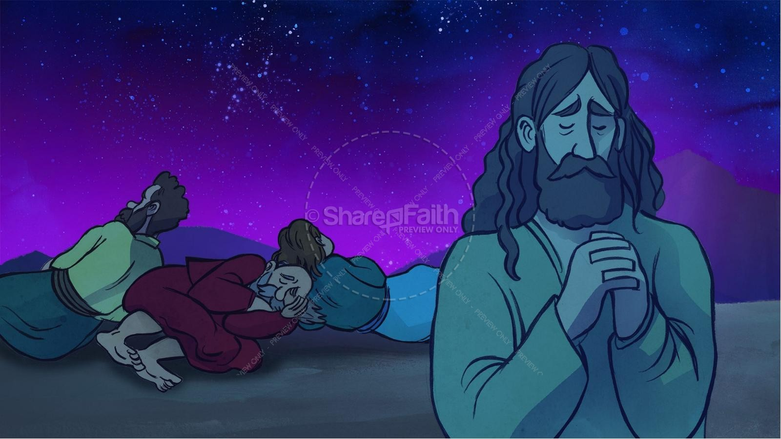 Matthew 17 The Transfiguration Kids Bible Story | slide 3