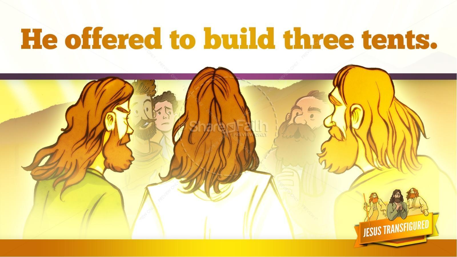 Matthew 17 The Transfiguration Kids Bible Story | slide 23