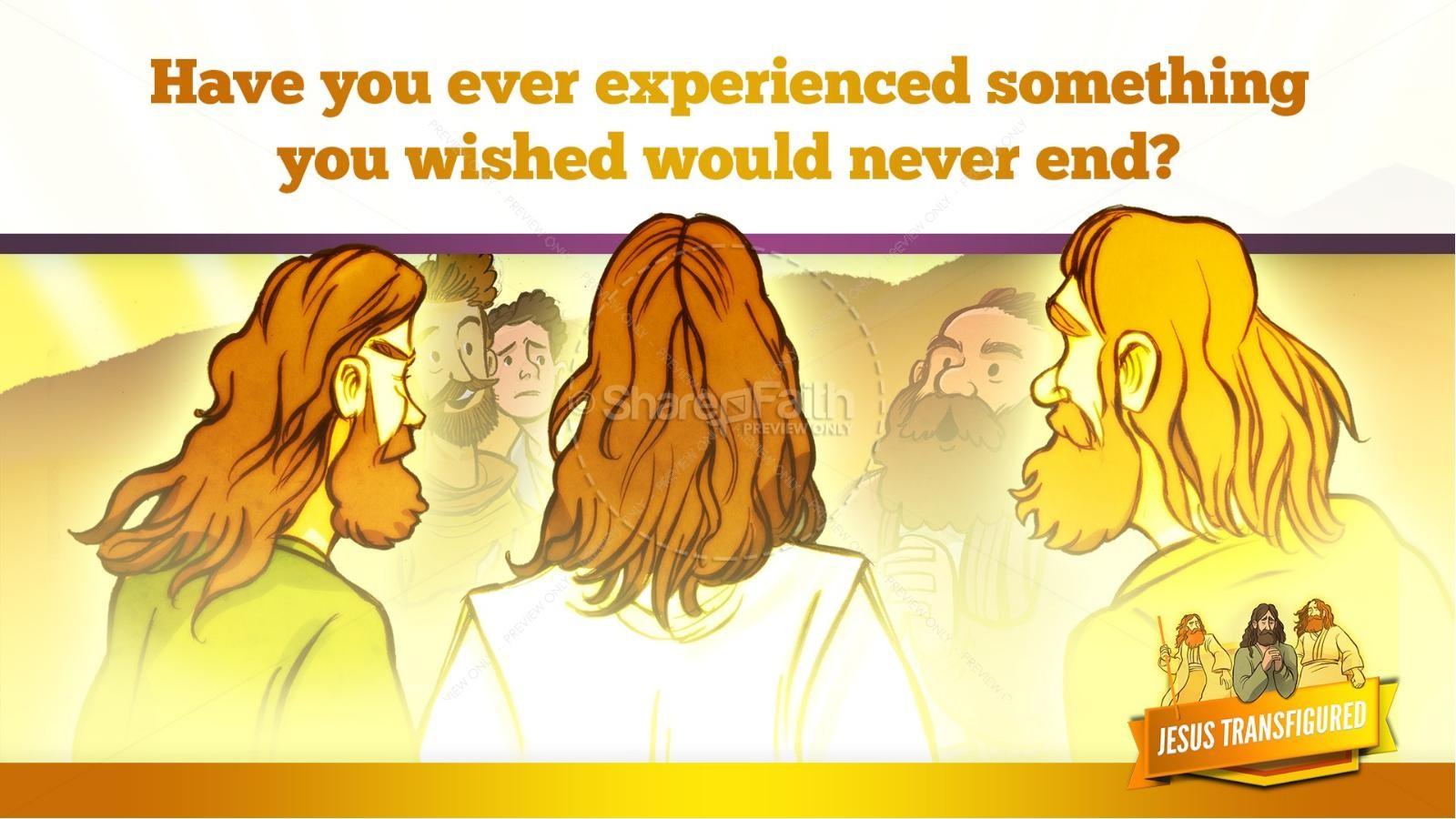 Matthew 17 The Transfiguration Kids Bible Story   slide 24