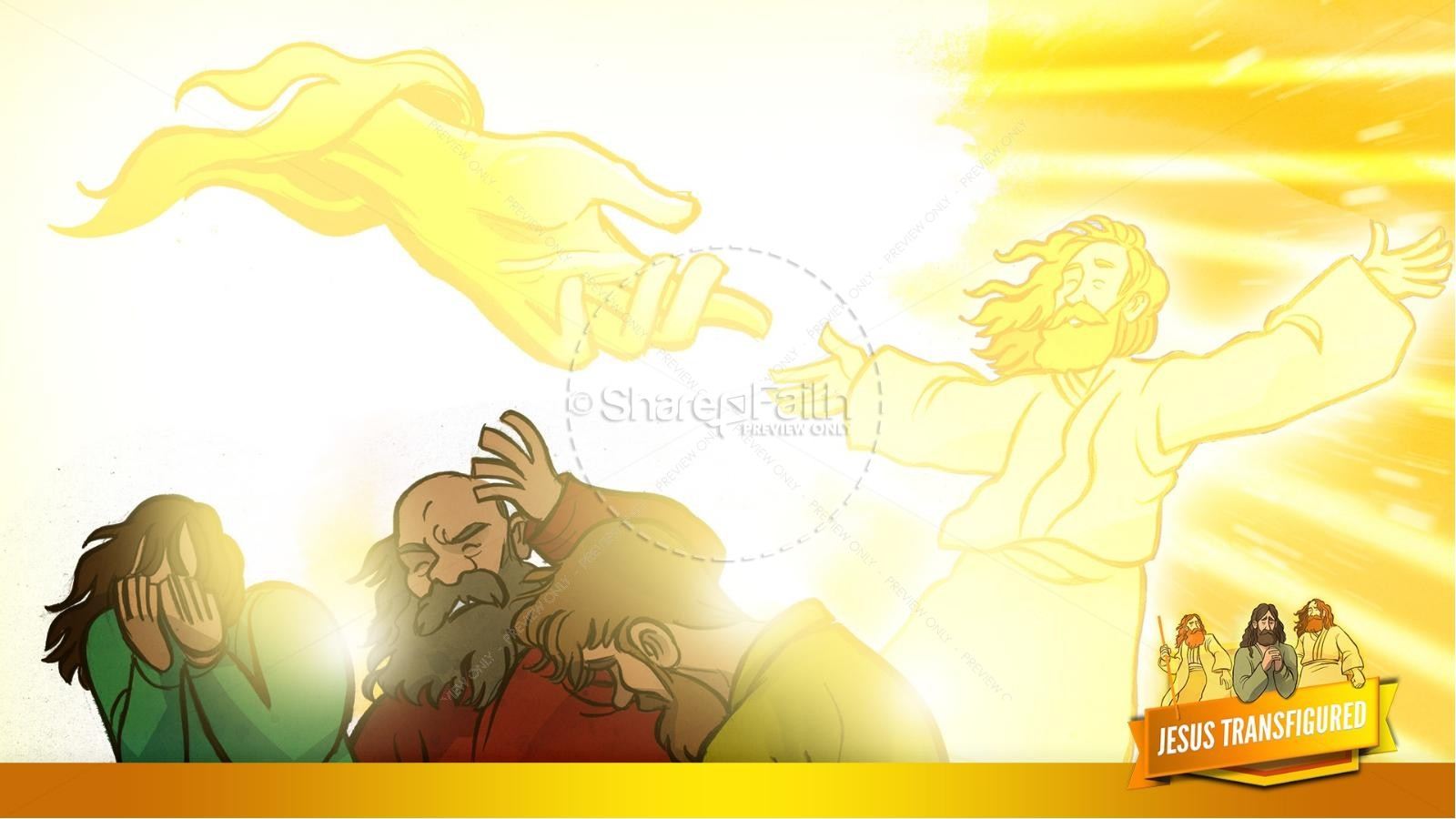 Matthew 17 The Transfiguration Kids Bible Story | slide 25