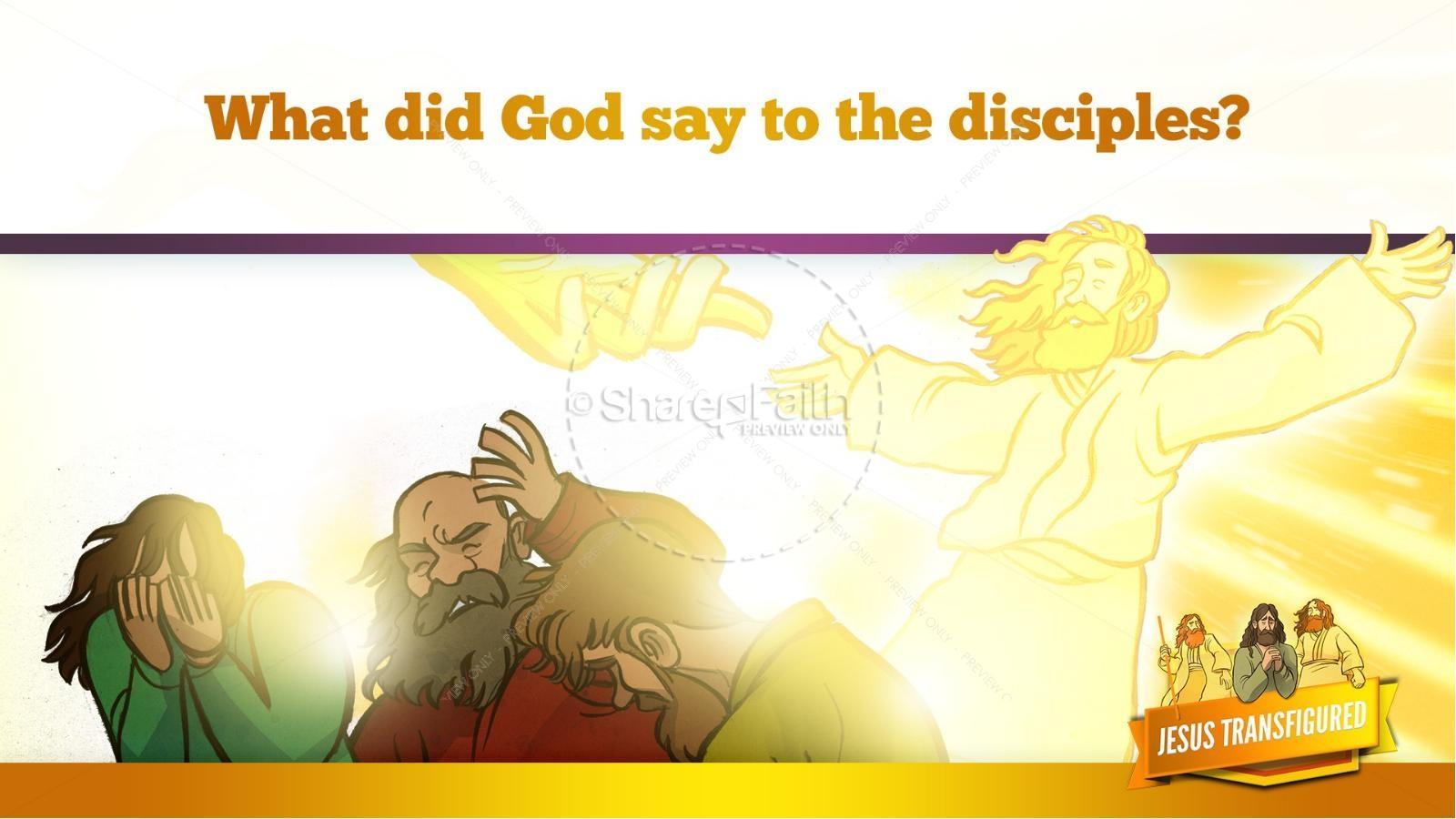 Matthew 17 The Transfiguration Kids Bible Story | slide 26