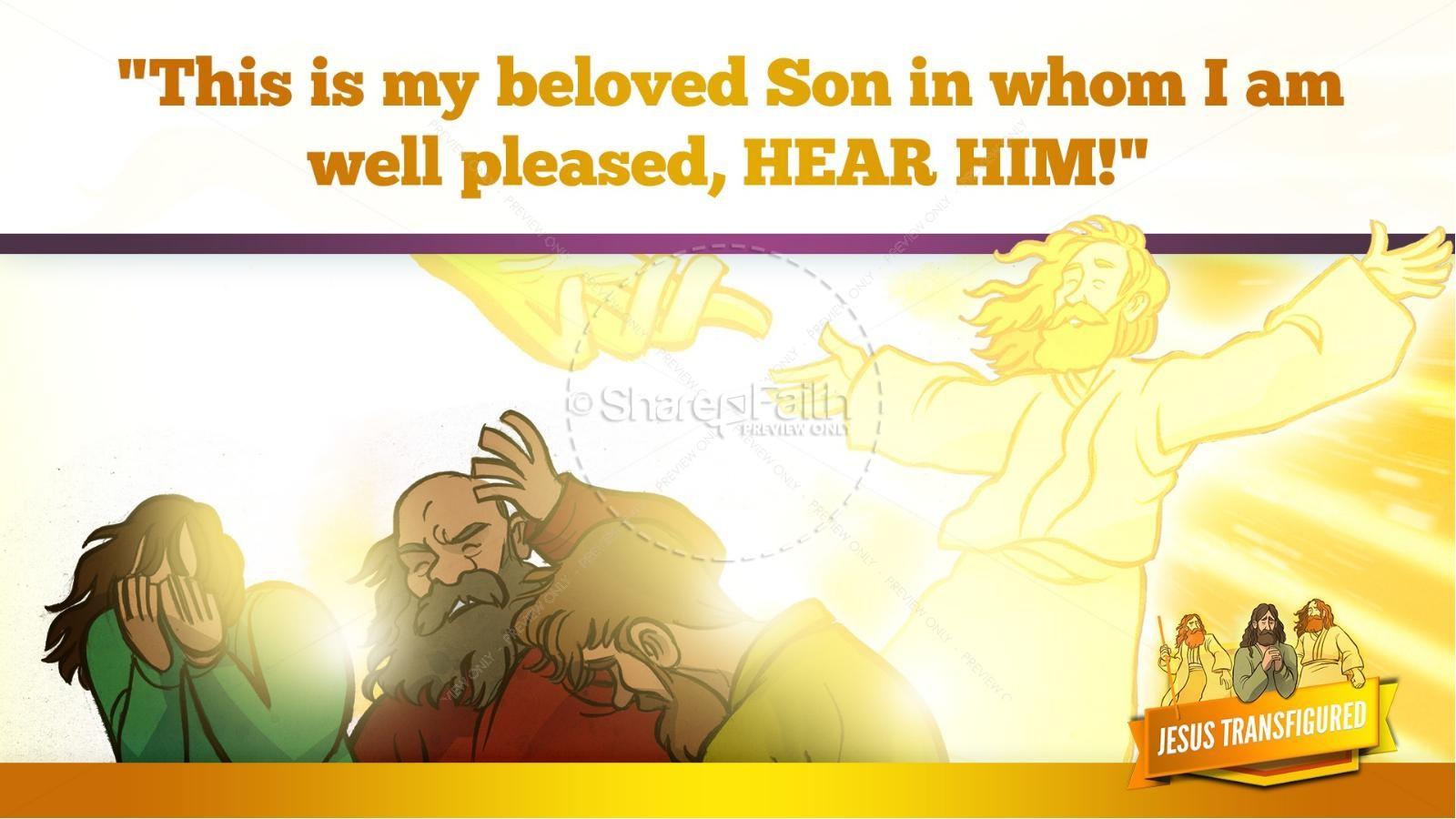 Matthew 17 The Transfiguration Kids Bible Story   slide 27