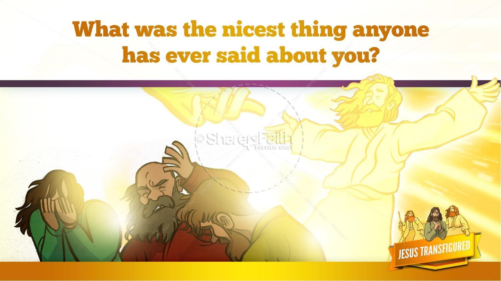 Matthew 17 The Transfiguration Kids Bible Story   slide 28