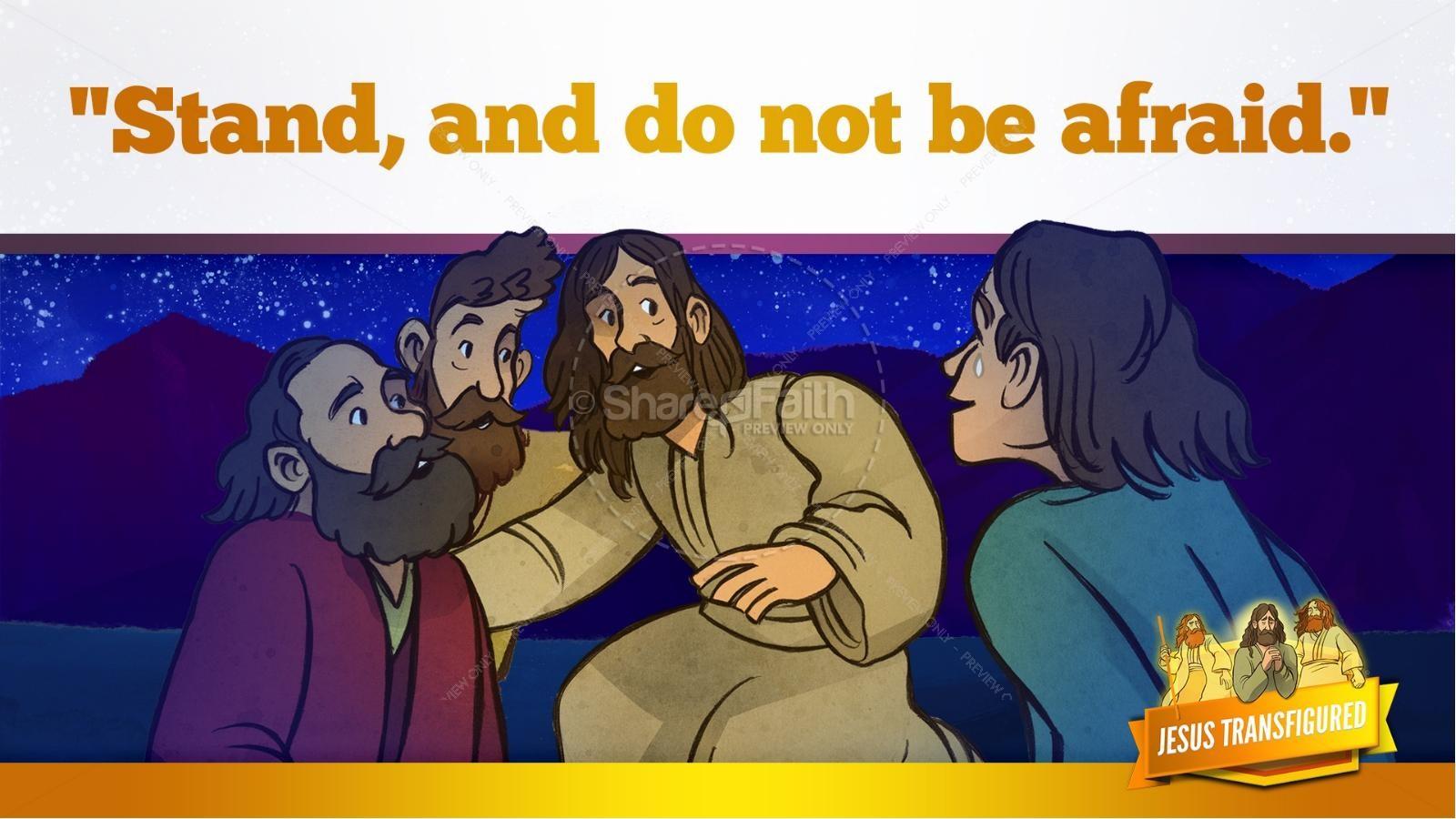 Matthew 17 The Transfiguration Kids Bible Story | slide 31
