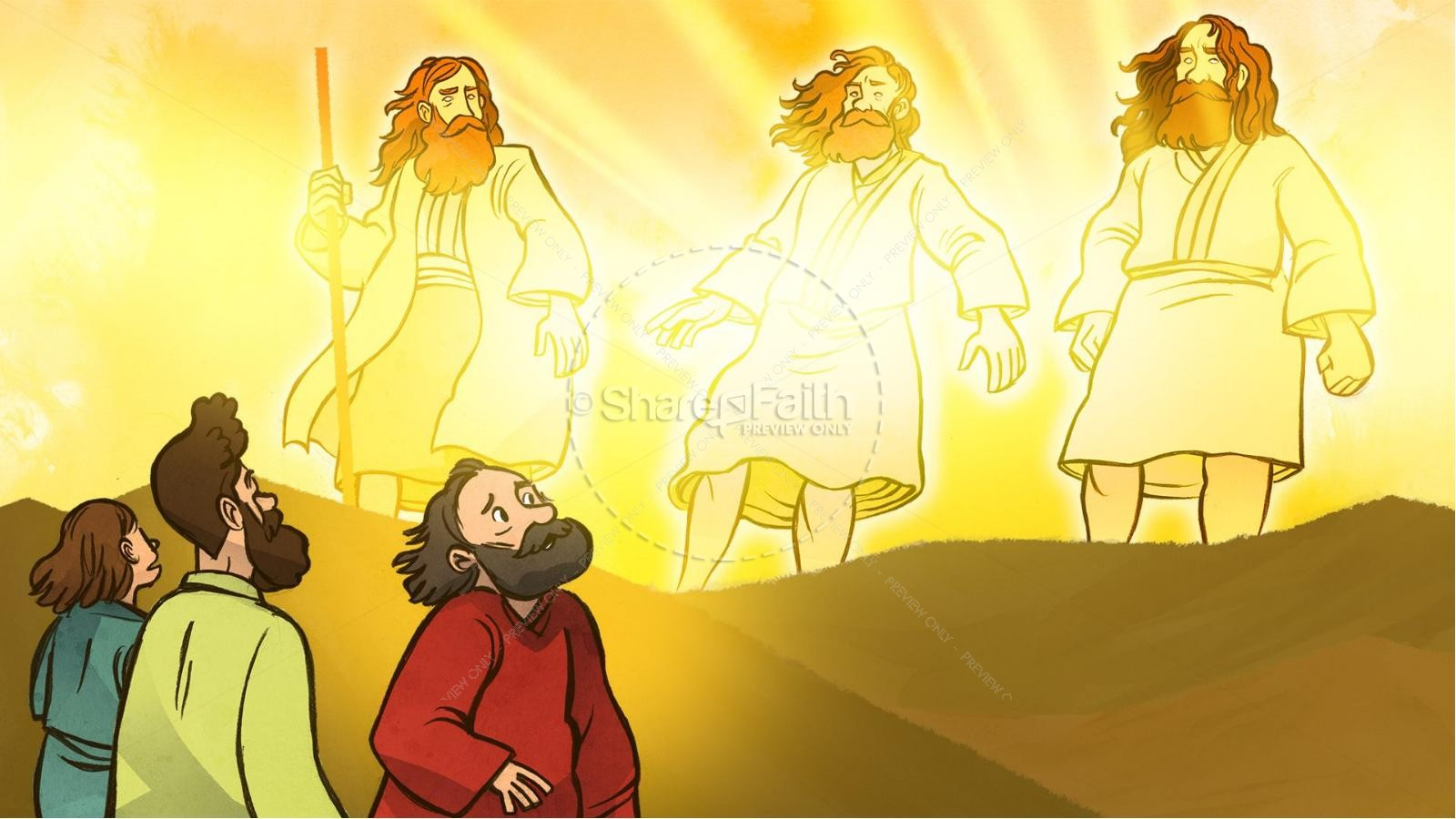 Matthew 17 The Transfiguration Kids Bible Story   slide 4
