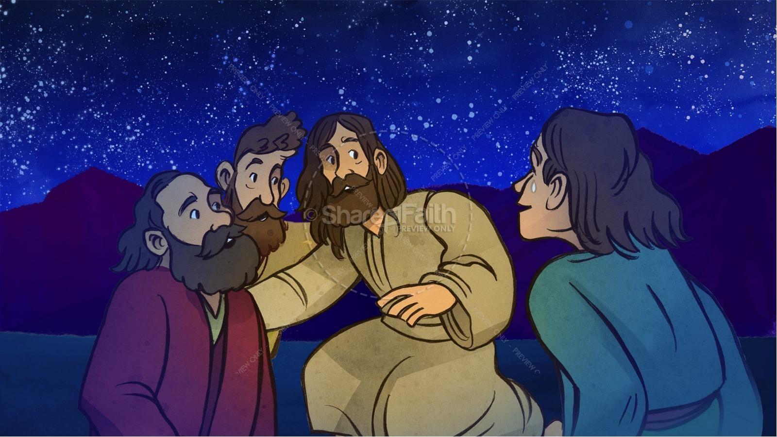 Matthew 17 The Transfiguration Kids Bible Story   slide 7
