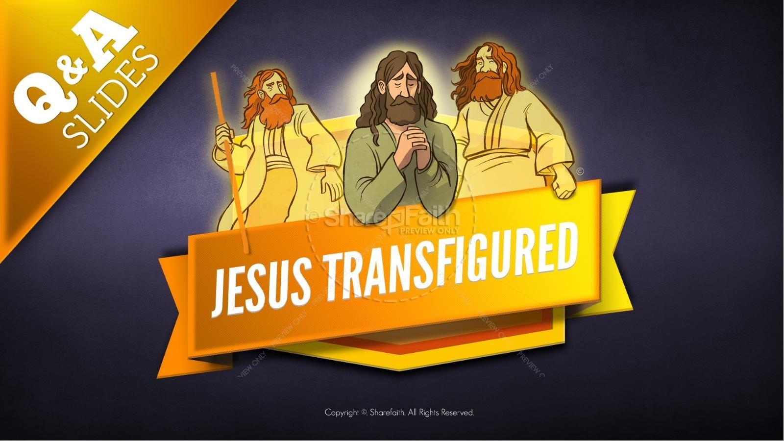 Matthew 17 The Transfiguration Kids Bible Story | slide 8
