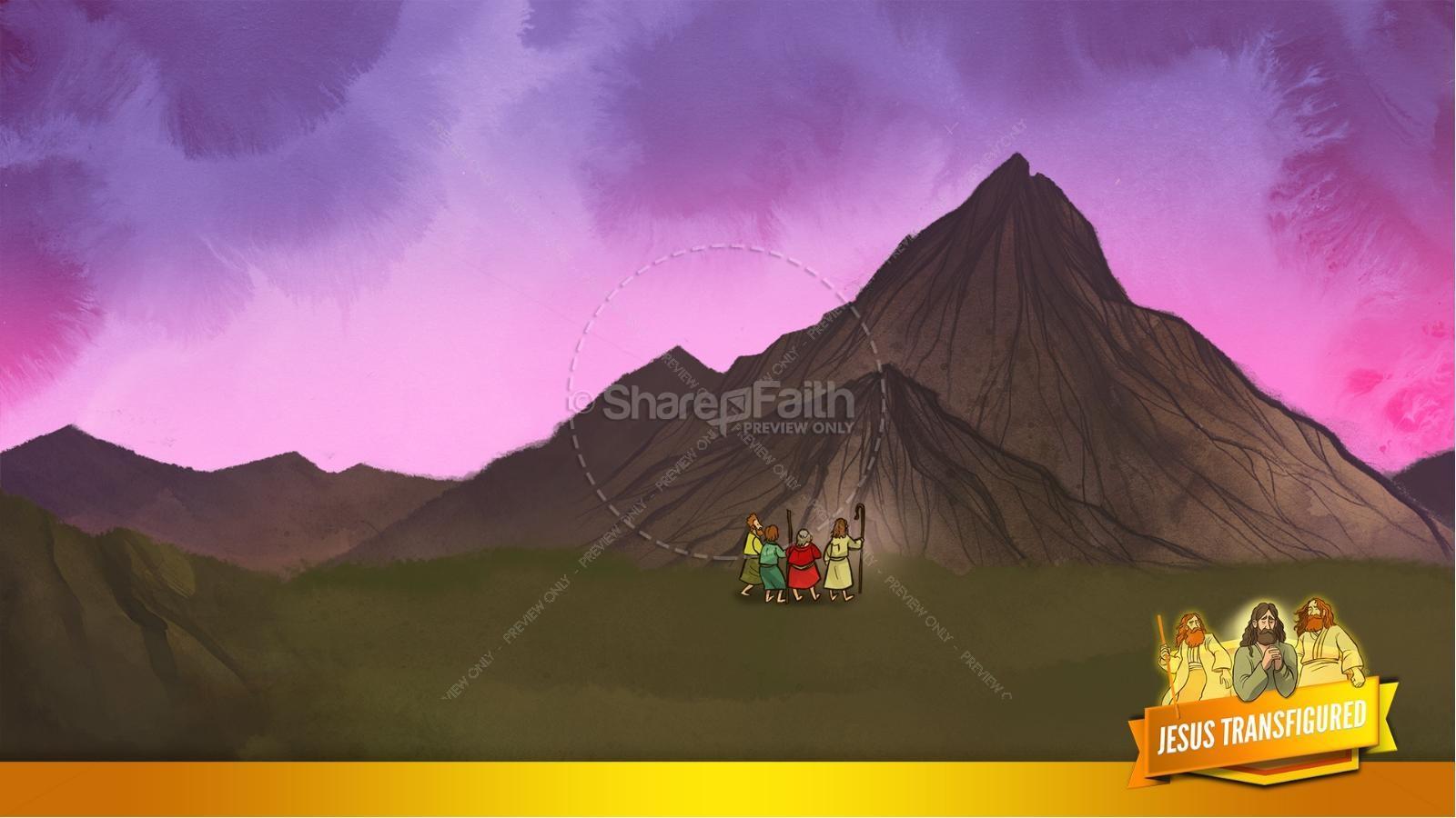 Matthew 17 The Transfiguration Kids Bible Story   slide 9