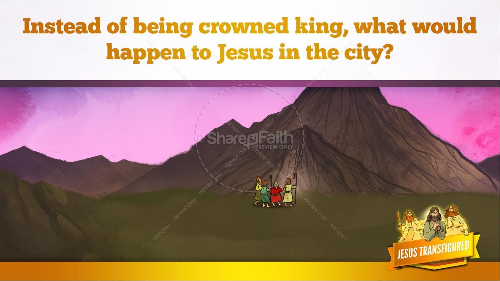Matthew 17 The Transfiguration Kids Bible Story   slide 10